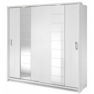 Šatní skříň Arti s LED osvětlením bílá