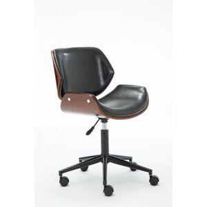 Otočná židle Tony ořech/černá