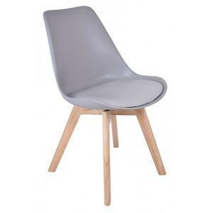 Jedálenská stolička Nantes - sivá