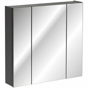 Závěsná koupelnová skříňka Monaco se zrcadlem 80 cm šedá