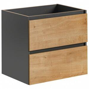 Koupelnová skříňka pod umyvadlo Monaco 60 cm dub hamilton/šedá