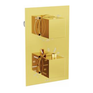 Termostatická podomítková baterie MEXEN CUBE vanovo - sprchová I zlatá