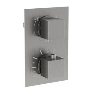 Termostatická podomítková baterie MEXEN CUBE vanovo - sprchová I grafitová