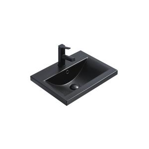 Keramické umyvadlo zápustné MEXEN EMMA 51x39 cm černé matné