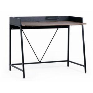 Psací stůl Marcell ořech/černý