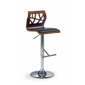 Barová židle Harry ořech/černá