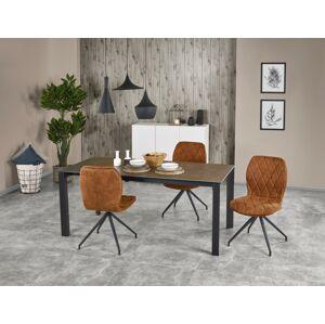 Rozkládací jídelní stůl Norison šedo-černý