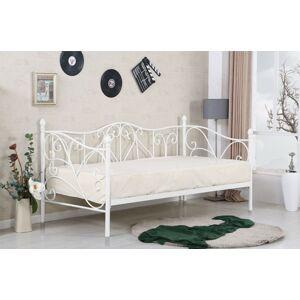 Kovová postel Sumatra 90x200 jednolůžko bílé