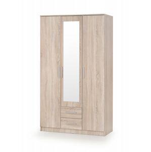 Šatní skříň Lima3 dub sonoma se zrcadlem