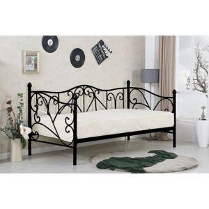 Kovová postel Sumatra 90x200 jednolůžko černé