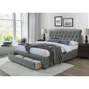 Čalouněná postel Avanti 160x200 dvoulůžko - šedé
