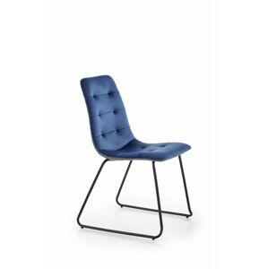 Designová židle Rany modrá/šedá