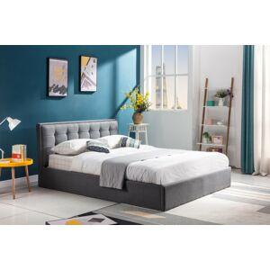 Čalouněná postel Padavan 160x200 dvoulůžko šedá