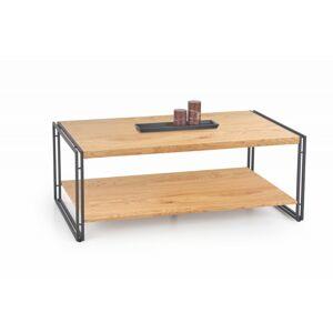 Konferenční stolek Bavaro dub zlatý/černá