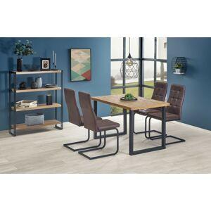 Rozkládací jídelní stůl Horus dub světlý/černá