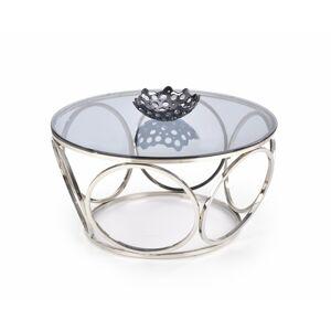 Konferenční stolek Venus sklo/stříbrný