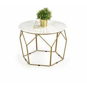 Konferenční stolek Madi mramor/zlatá