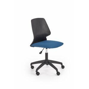 Otočná židle GREVITY černá / modrá