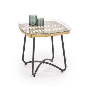 Konferenční stolek Indir ratan/černá