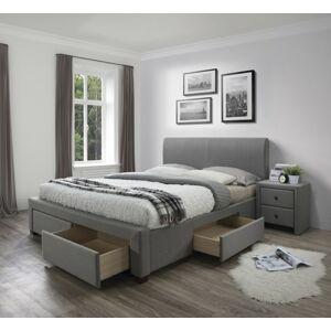 Čalouněná postel Dena 180x200 cm šedá