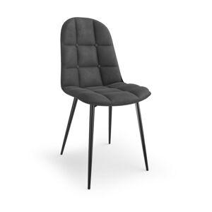Designová židle Brenna šedá