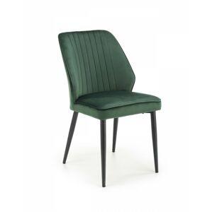 Designová židle Rickie tmavě zelená