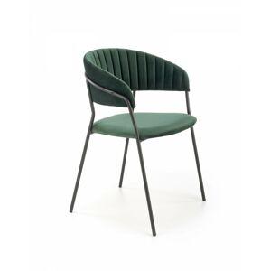 Designová židle Peva tmavě zelená