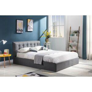Čalouněná postel Padavan 120x200 dvoulůžko šedá