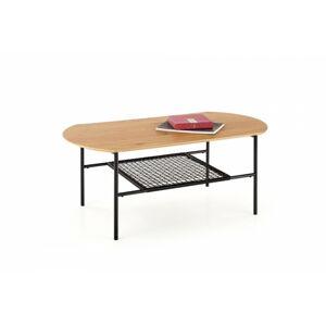 Konferenční stolek Jecksie dub zlatý/černá