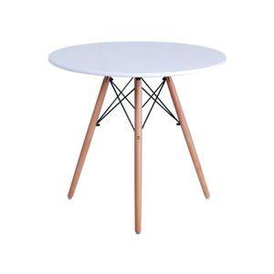 Konferenčný stolík Paris 80 cm - biely