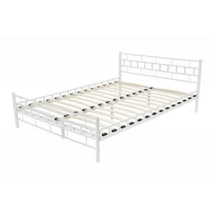Kovová postel Jelena 140x200 dvoulůžko - bílé