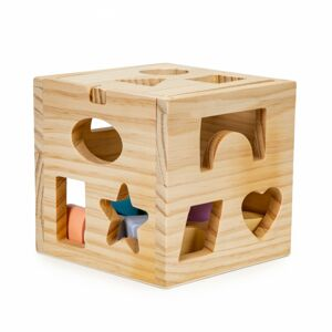 Edukační dřevěná kostka Sorter Ecotoys