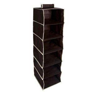 Textilní šatní škříň Villo černá