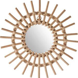 Proutěné nástěnné zrcadlo Slunce 30 cm
