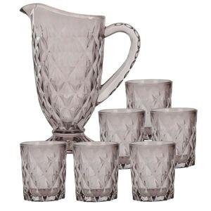 Set džbán + skleničky - šedý