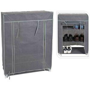 Textilní botník Glin šedý - 3 police