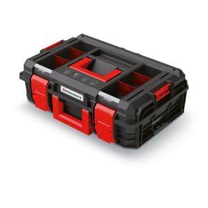 Kufr na nářadí X-BLOCK LOG 54,6x38x19,4 cm černo-červený