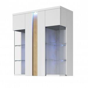 Závěsná vitrína Cruz LED bílá 92 cm