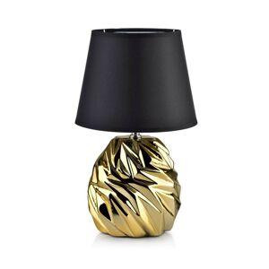 Stolní lampa Luna Wave černá/zlatá
