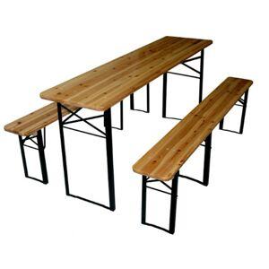 Zahradní sestava stůl + 2 lavice