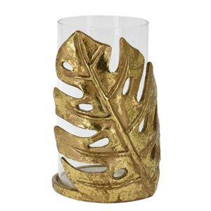 Svícen MONSTERA 21 cm zlatý