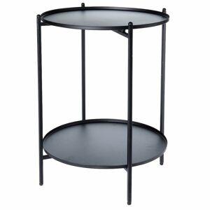 Dvojúrovňový stôl Gass čierny