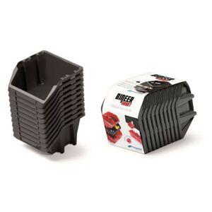 Sada úložných boxů BINEER SHORT 10 ks 18x9,8x11,8 cm černé