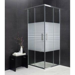 Sprchový kout MEXEN RIO transparentní/proužky 80x80 cm