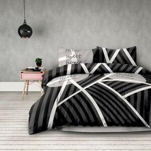 Povlečení z bavlny AmeliaHome Sweet Home černé