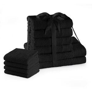 Sada bavlněných ručníků AmeliaHome Amari I černá