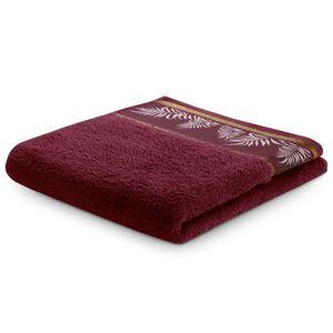 Bavlněný ručník AmeliaHome Pavos bordó