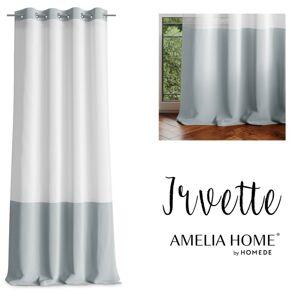 Záclona AmeliaHome Irvette II stříbrná