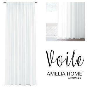 Záclona AmeliaHome Voile Liva bílá