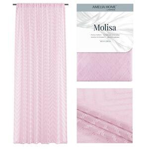 Záclona AmeliaHome Molisa III růžová